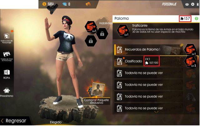 Free Fire conseguir fragmentos memoria subir nivel personaje iOS Android Garena