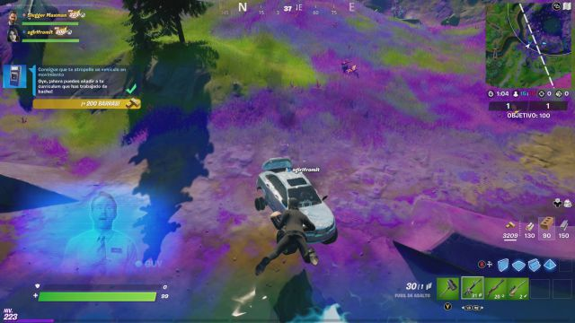 fornite chapter 2 season 7 free guy ryan reynolds collaboration challenges missions challenge mission get hit by a moving vehicle