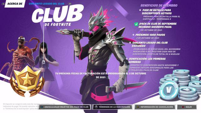 Fortnite Capitolo 2 Stagione 8 Skin Origins of Chaos Fortnite Club ottobre 2021 Prime ombre
