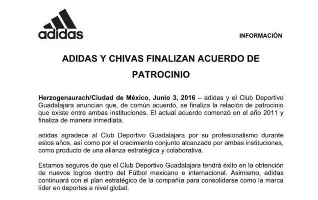 Liga Mx Chivas Pierde El Patrocinio De Adidas As México