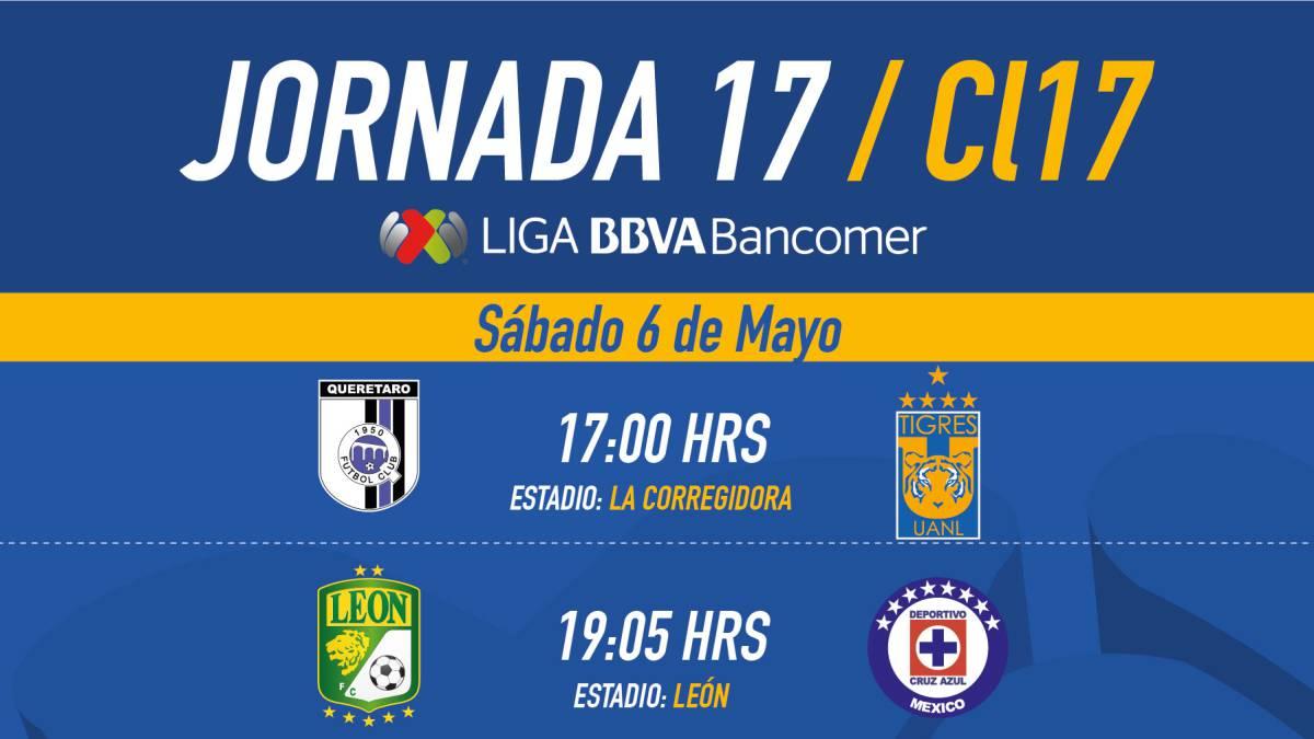 Liga MX: Fechas Y Horarios De La Jornada 17 Del Clausura