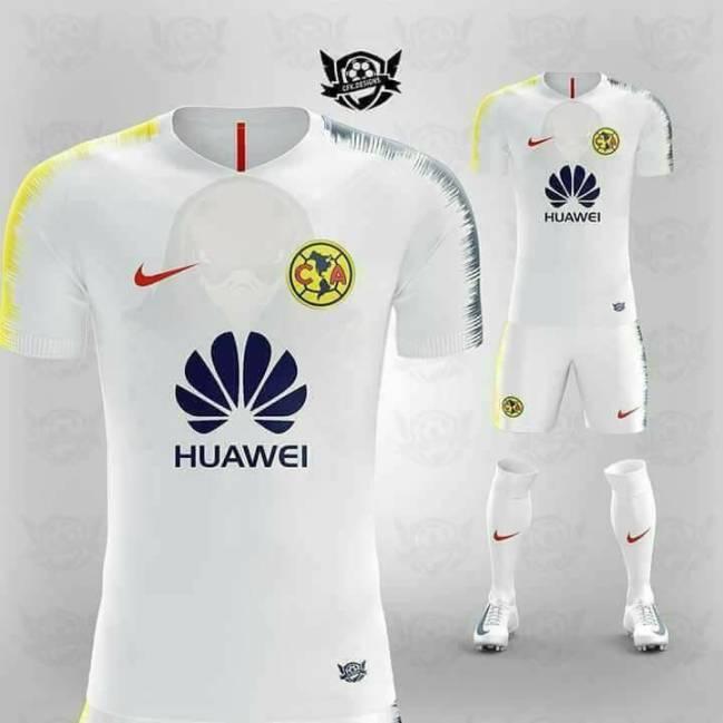 Se filtra la posible playera del am rica para el apertura for Cuarto uniforme del america 2018