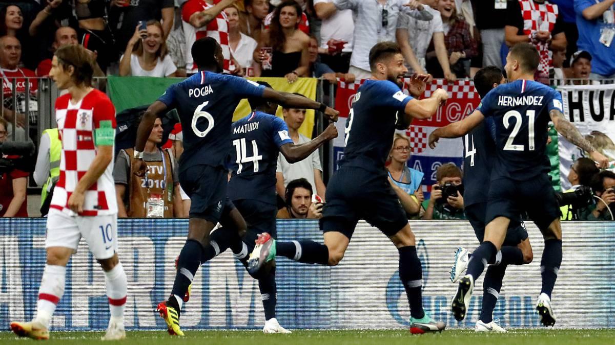 Final Francia vs Croacia