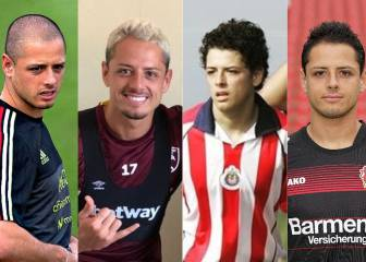 Los 'looks' de Chicharito a lo largo de su carrera