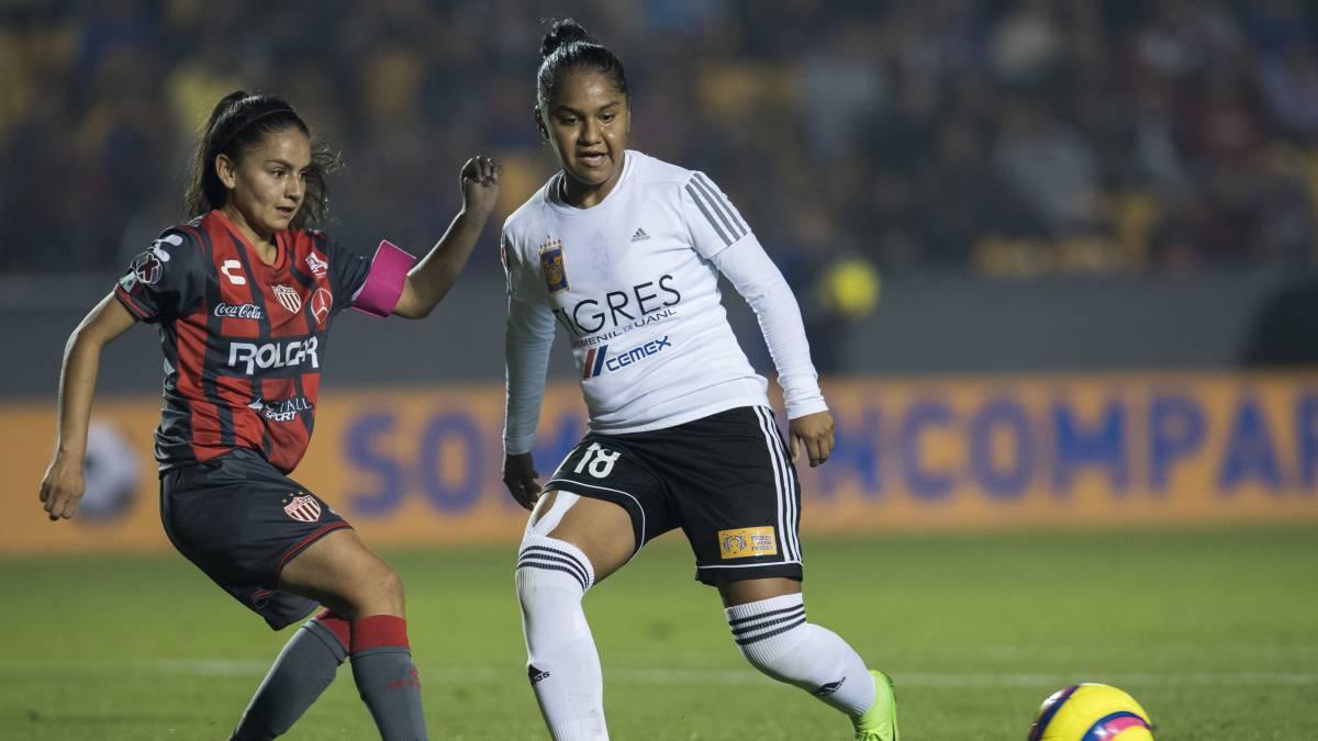 Tigres Femenil - Necaxa (7-0)  Resumen de partido y goles - AS México c971ba33adf2e