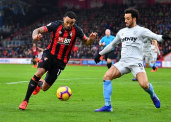 Bournemouth venció a West Ham; 'Chicharito', discreto