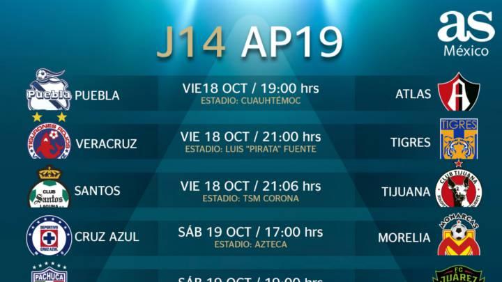 nueva llegada Promoción de ventas mitad de descuento Fechas y horarios de la jornada 14 el Apertura 2019 de la ...