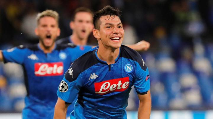 'Chucky' Lozano marcó su segundo gol con el Napoli