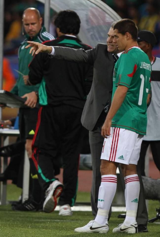 Javier 'Chicharito' Hernández y Javier Aguirre, Selección Mexicana