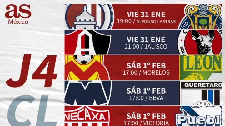 Fechas Y Horarios De La Jornada De Liga MX AS M xico