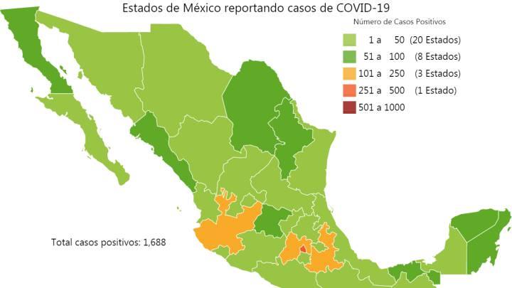 Mapa y casos de coronavirus en México por estados hoy 3 de abril ...