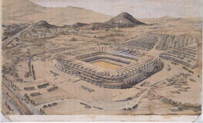 Así iba a ser el Estadio Azteca, según el proyecto de Félix Candela