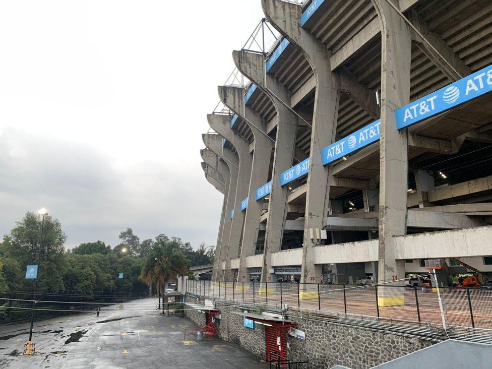 El Estadio Azteca luce desolado para el México vs Jamaica