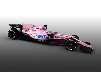El Force India 2017 del mexicano Checo Pérez será... rosa