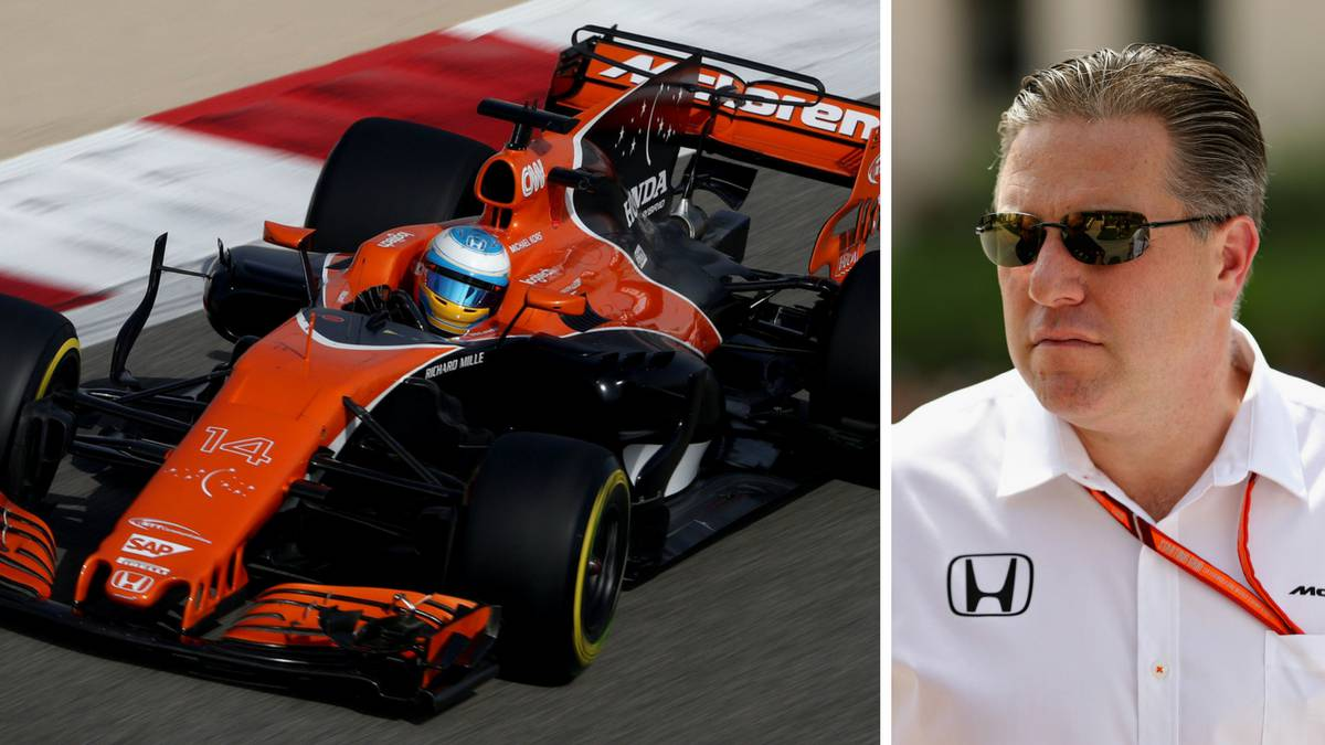 Fernando Alonso y Zak Brown, el CEO de McLaren.