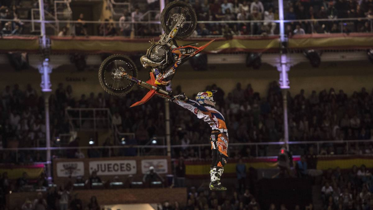 Levi Sherwood en el Red Bull X Fighters 2017.