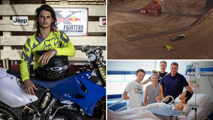 Christian Meyer se recupera de su caída en el Red Bull X-Fighters 2017