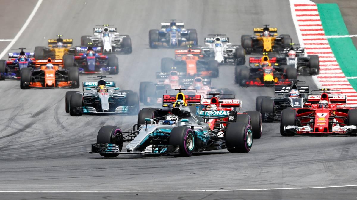 La salida del GP de Austria 2017.