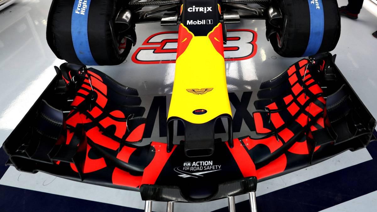 El alerón delantero que Red Bull estrenó en Silverstone.