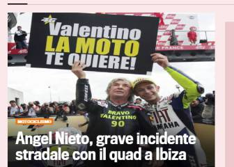 La prensa italiana se hace eco del accidente de Nieto