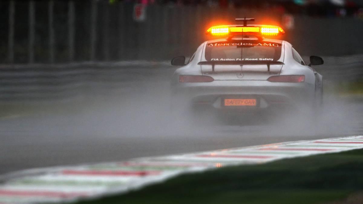 El Safety Car rodando en Monza durante los Libres 3.