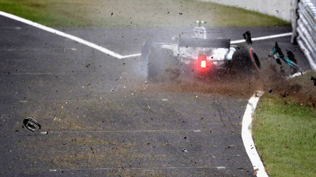 Accidente de Bottas en Suzuka.