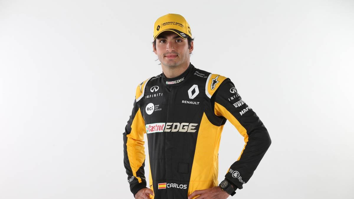 Carlos Sainz se estrena con los colores de la escudería Renault