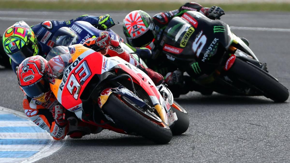Márquez por delante de Zarco y Rossi en Australia.