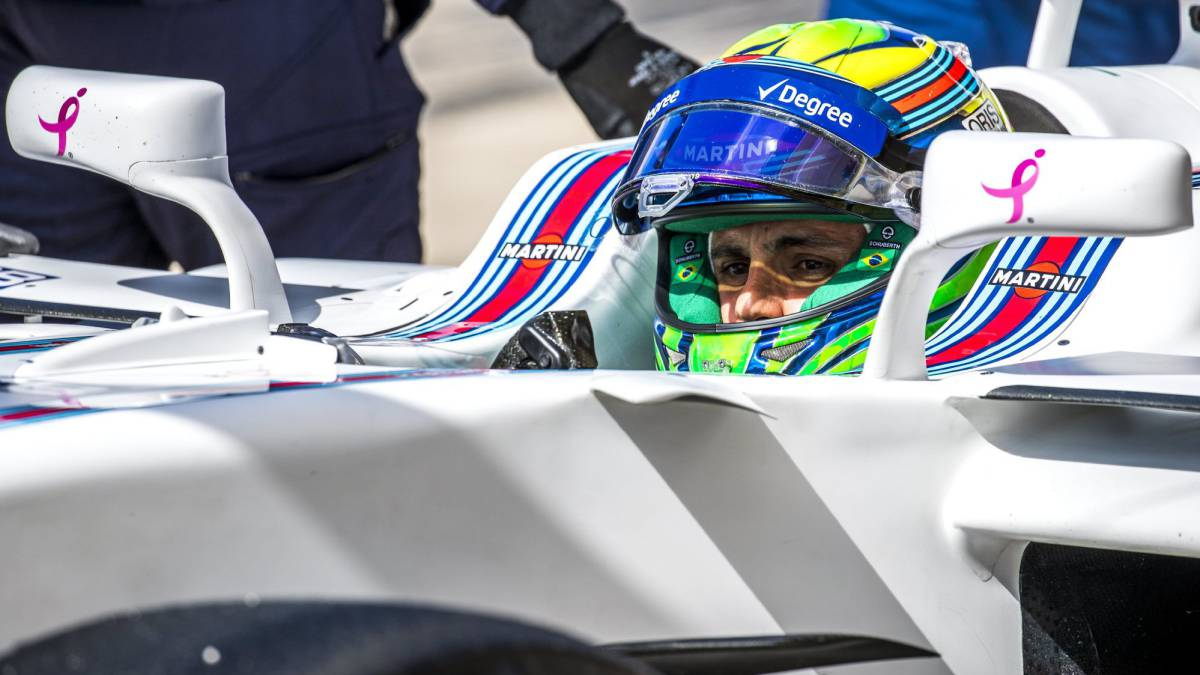 Felipe Massa subido en el Williams en Austin.
