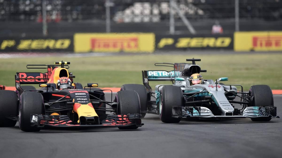 Verstappen y Hamilton, en México.