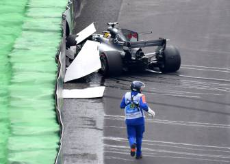 Hamilton is human after all: huge crash in Brazil