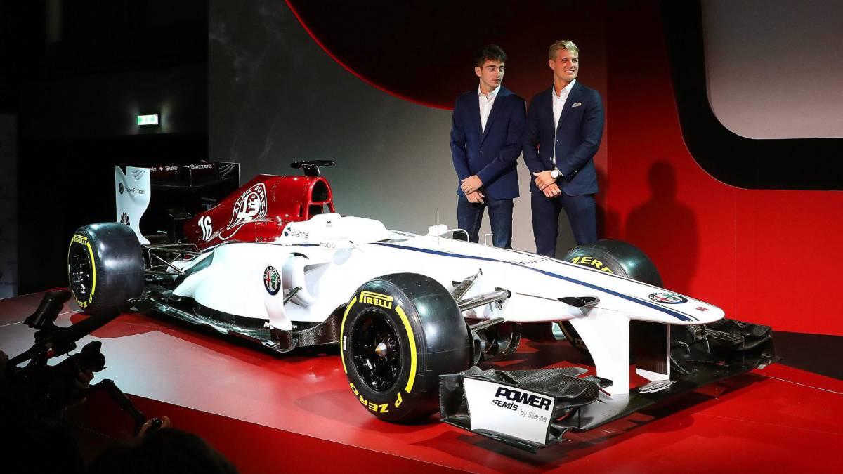 Leclerc y Ericsson, con el Alfa Romeo Sauber.