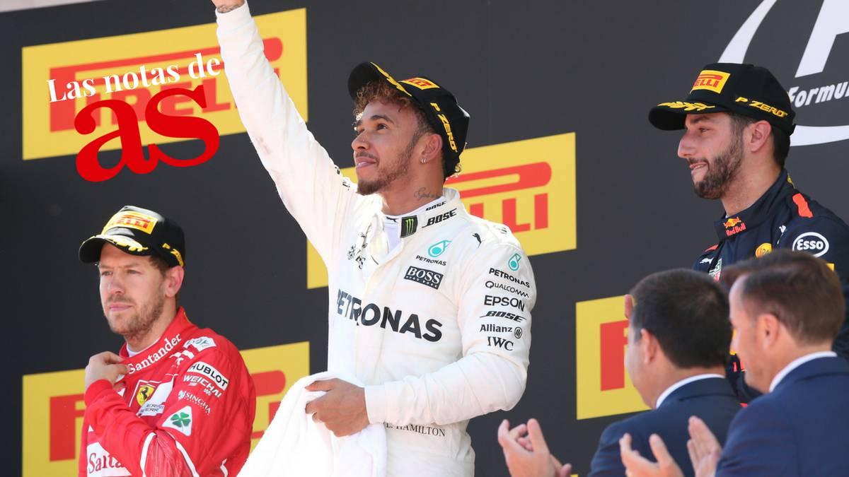 Hamilton, Vettel y Ricciardo son los mejores pilotos para As del 2017.