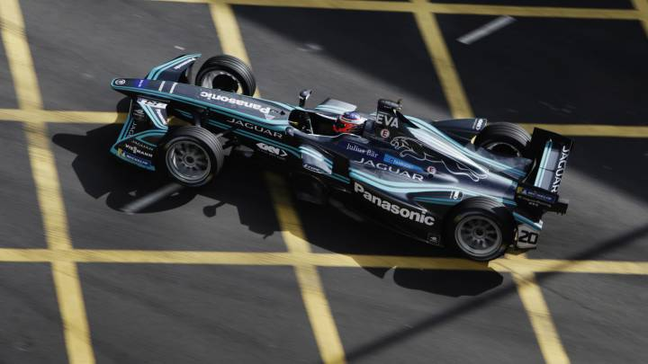 Mitch Evans (Jaguar Racing), en Hong Kong.