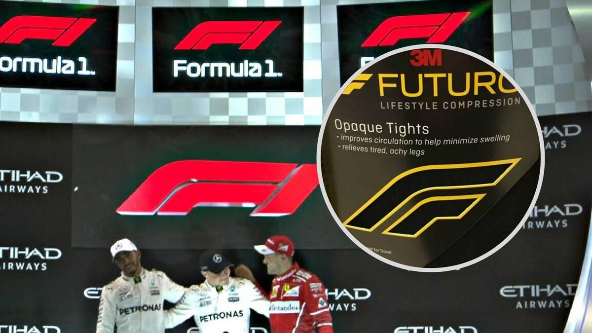Los logotipos de la Fórmula 1 y de la marca 'Futuro' de '3M'.