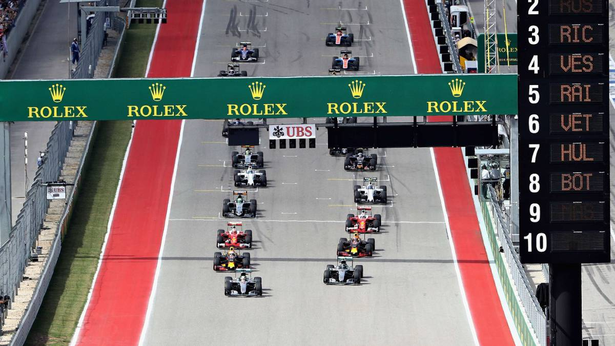 Parrilla de F1.