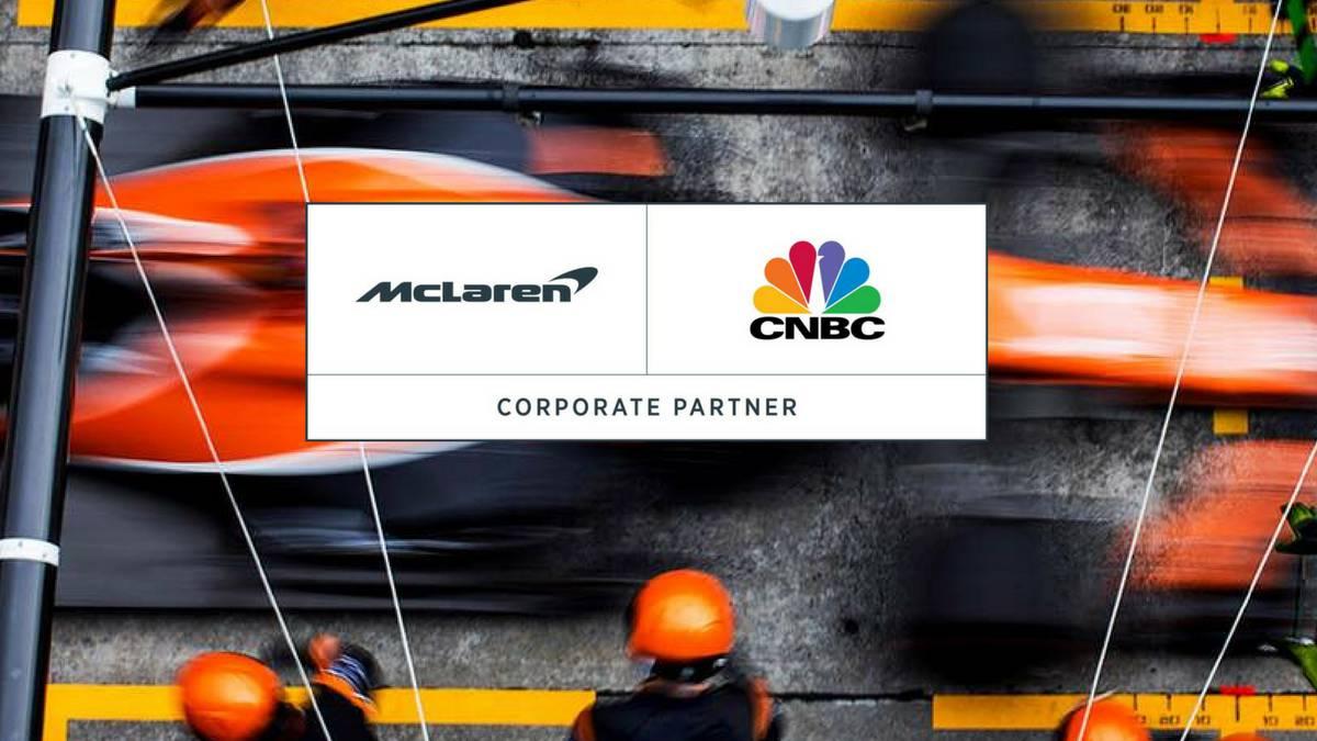 McLaren anuncia un acuerdo con la 'CNBC'.