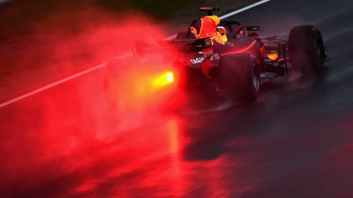 Red Bull manda en una jornada de test con frío y lluvia