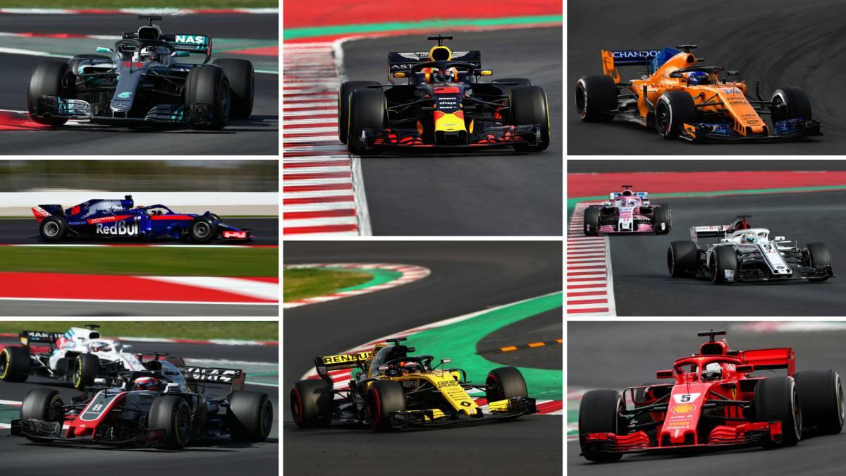 Resumen de la pretemporada de F1 2018.