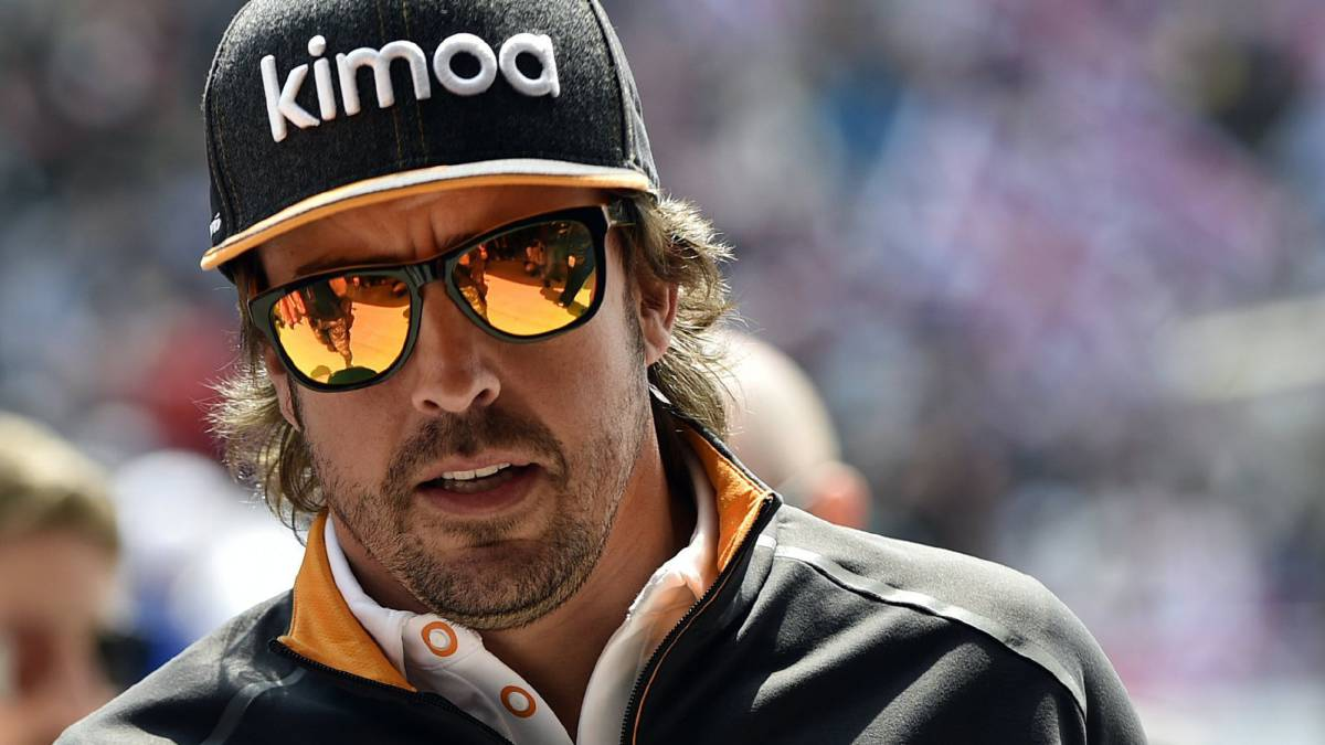 Fernando Alonso en China.