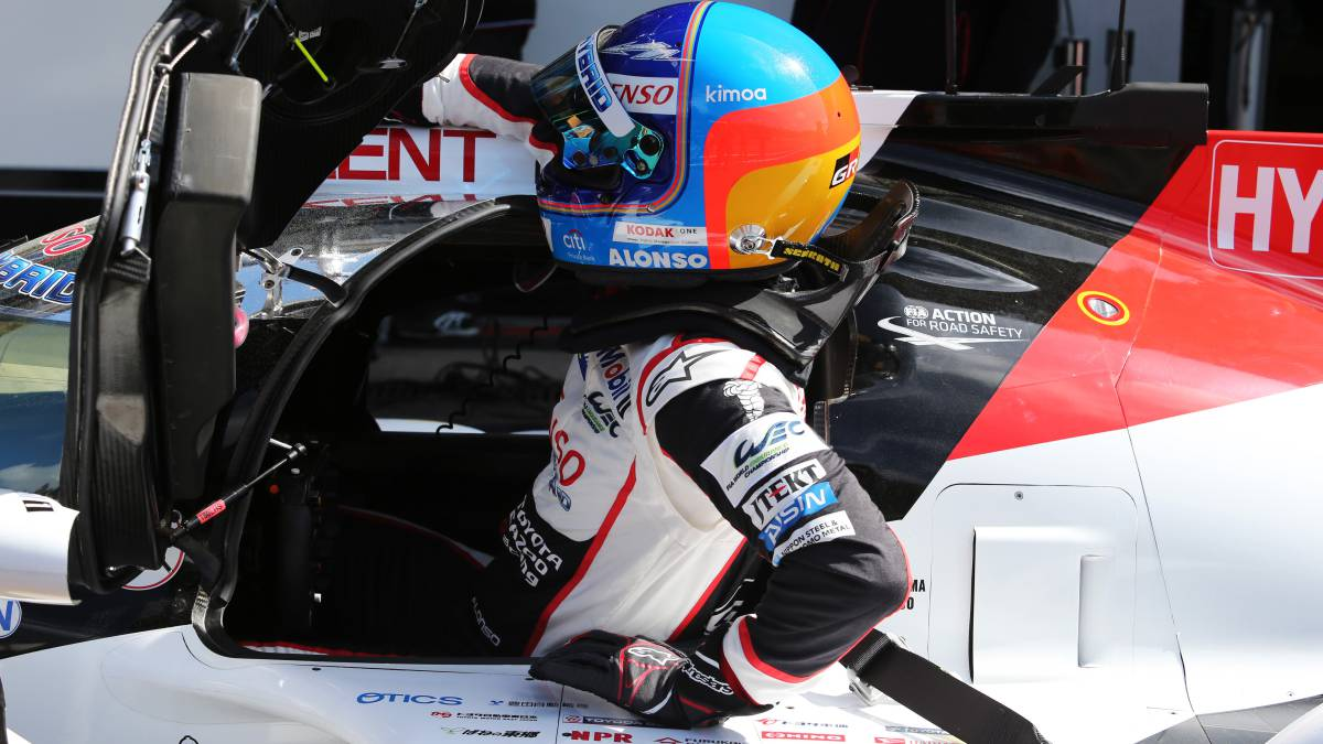Fernando Alonso, con Toyota en las 6 Horas de Spa.