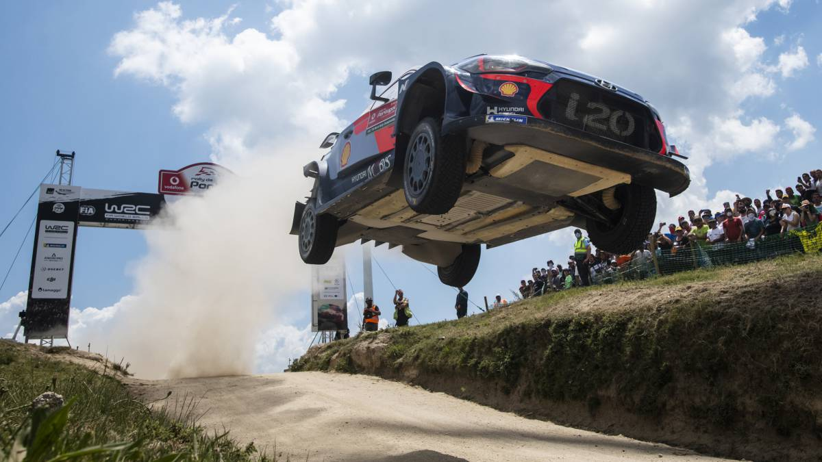 Thierry Neuville en Portugal.