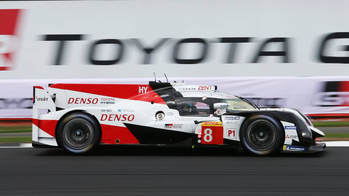 El Toyota de Alonso en Silverstone.