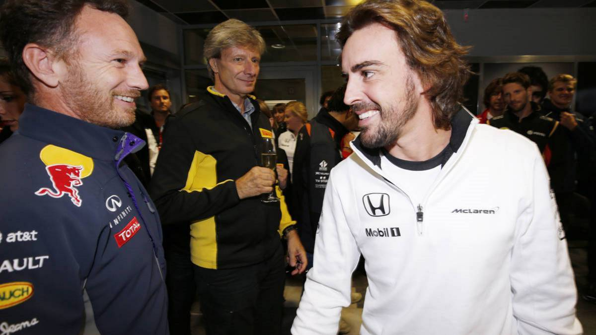 Horner con Alonso.