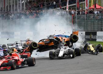 El accidente de Fernando Alonso en el GP de Bélgica