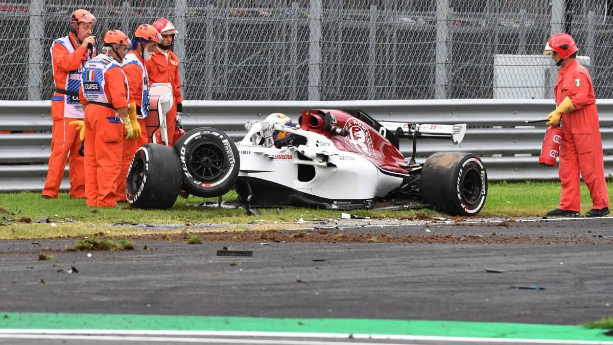 Tremendo accidente de Ericsson: vueltas de campana a 340 km/h