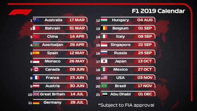 Calendario Formula 1 2020 Horarios.F1 La Fia Aprueba El Calendario De 2019 De Marzo A Diciembre As Com