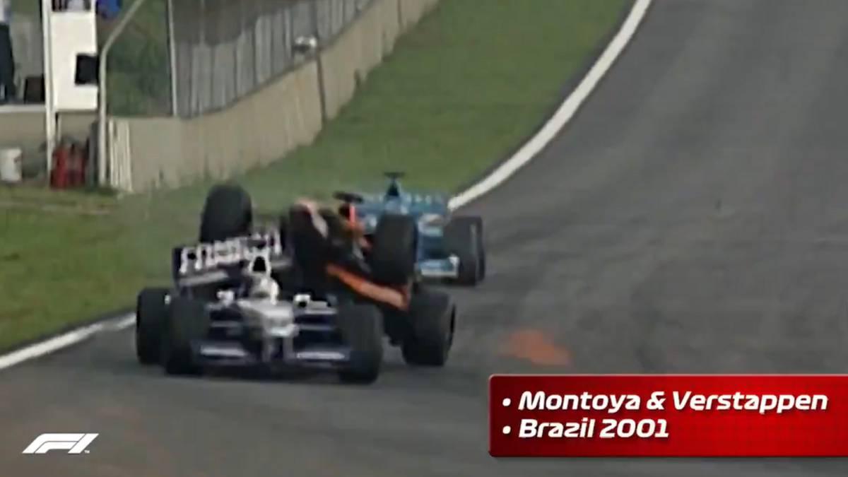 Verstappen se llevó por delante a Montoya en Brasil 2001.