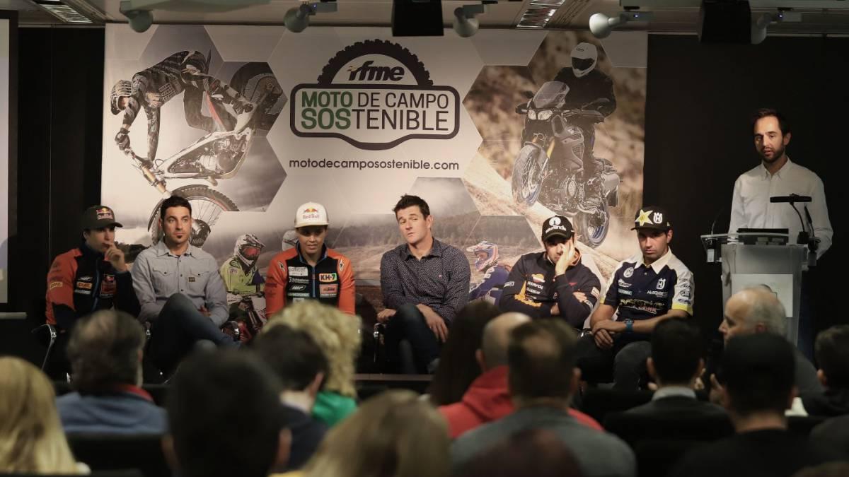 Los pilotos españoles apoyan la 'Moto de Campo Sostenible'