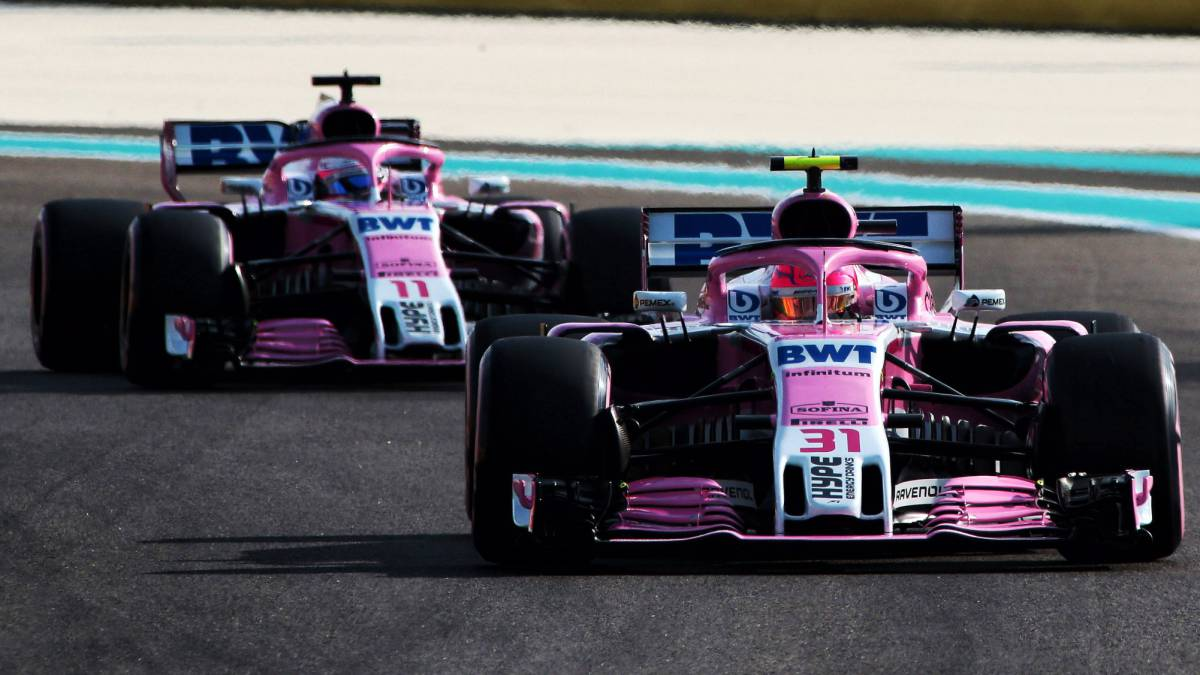 Ocon y Pérez con los Force India.